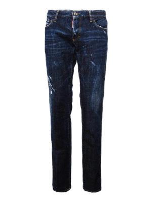 Dsquared2: straight leg jeans - Stretch cotton Slim jeans