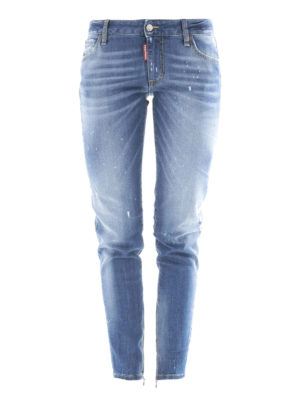 Dsquared2: straight leg jeans - Twiggy medium-waist jeans