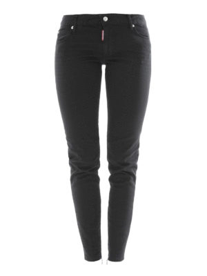 Dsquared2: straight leg jeans - Twiggy stretch denim jeans