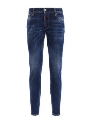 Dsquared2: straight leg jeans - Twiggy zipped bottom jeans