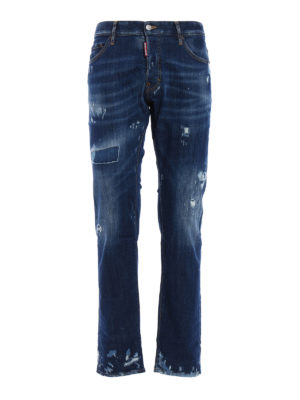 Dsquared2: straight leg jeans - Used effect jeans