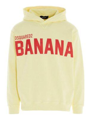 DSQUARED2: Sweatshirts & Sweaters - Banana hoodie in yellow