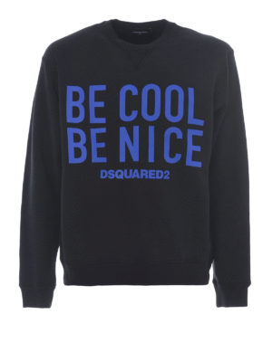 Dsquared2: Sweatshirts & Sweaters - Be Cool Be Nice cotton sweatshirt