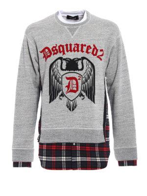 Dsquared2: Sweatshirts & Sweaters - Check D2 sweatshirt