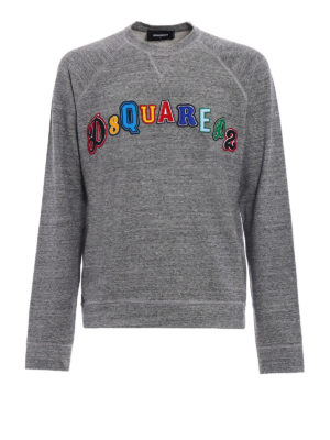 Dsquared2: Sweatshirts & Sweaters - Colourful logo patches sweatshirt