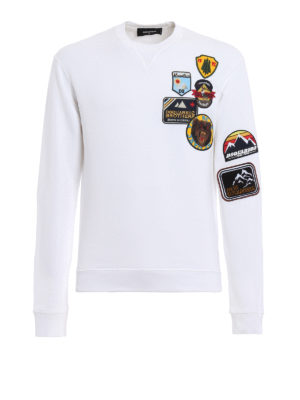 Dsquared2: Sweatshirts & Sweaters - Cotton sweatshirt with patches