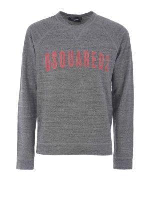 Dsquared2: Sweatshirts & Sweaters - D2 Logo lettering cotton sweatshirt