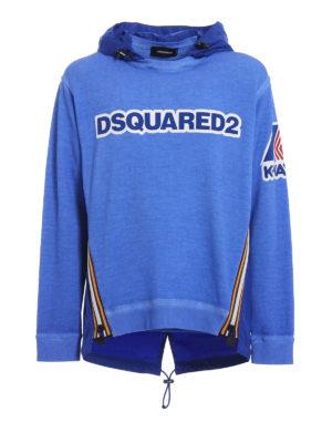 Dsquared2: Sweatshirts & Sweaters - K-Way nylon and cotton sweat hoodie