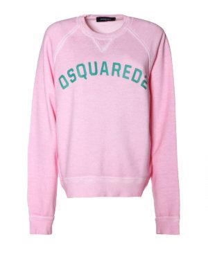 DSQUARED2: Felpe e maglie - Felpa rosa con stampa logo