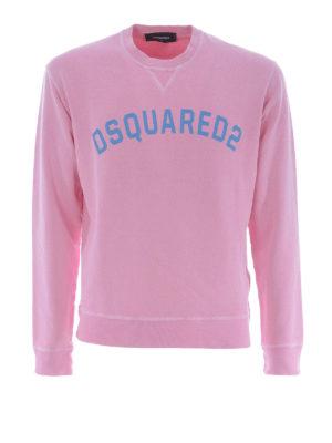 DSQUARED2: Felpe e maglie - Felpa in cotone rosa con logo