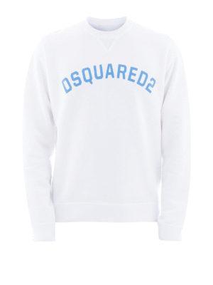 DSQUARED2: Felpe e maglie - Felpa in cotone bianco con logo