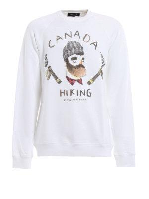 Dsquared2: Sweatshirts & Sweaters - Lumberjack print sweatshirt