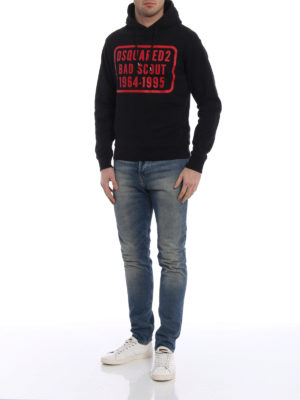 Dsquared2: Sweatshirts & Sweaters online - Bad Scout print hoodie