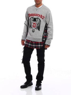 Dsquared2: Sweatshirts & Sweaters online - Check D2 sweatshirt