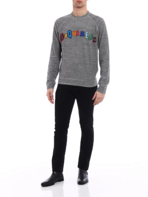 Dsquared2: Sweatshirts & Sweaters online - Colourful logo patches sweatshirt