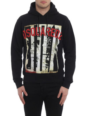 Dsquared2: Sweatshirts & Sweaters online - D2 cotton hoodie