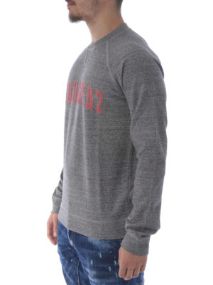 Dsquared2: Sweatshirts & Sweaters online - D2 Logo lettering cotton sweatshirt