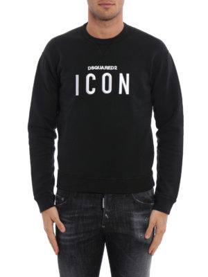 Dsquared2: Sweatshirts & Sweaters online - Embroidered cotton sweatshirt