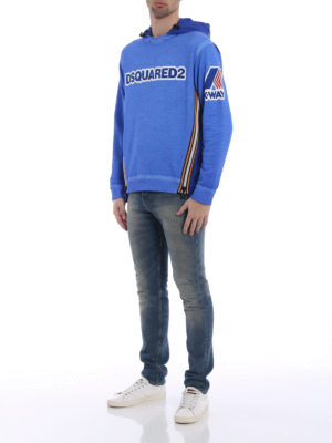 Dsquared2: Sweatshirts & Sweaters online - K-Way nylon and cotton sweat hoodie