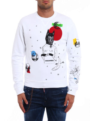 Dsquared2: Sweatshirts & Sweaters online - Printed cotton sweatshirt