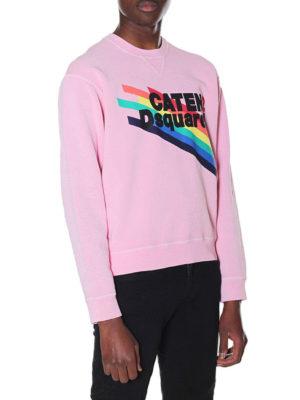 Dsquared2: Sweatshirts & Sweaters online - Rainbow logo print sweatshirt