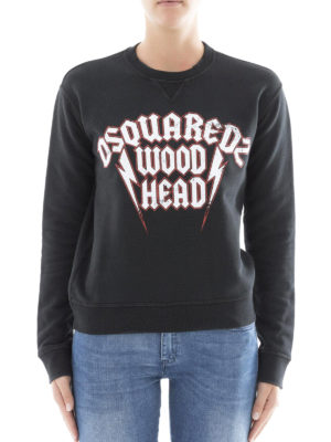 Dsquared2: Sweatshirts & Sweaters online - Wood Head print sweatshirt