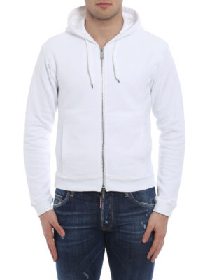 Dsquared2: Sweatshirts & Sweaters online - Zipped cotton hoodie