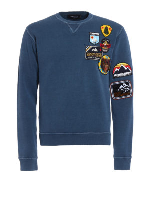 Dsquared2: Sweatshirts & Sweaters - Patch detailed sweatshirt