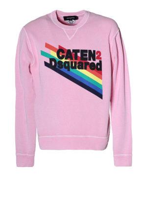 Dsquared2: Sweatshirts & Sweaters - Rainbow logo print sweatshirt