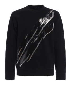 Dsquared2: Sweatshirts & Sweaters - Sequin embroidered scuba sweatshirt