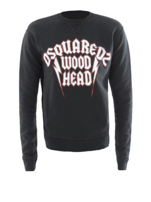 Dsquared2: Sweatshirts & Sweaters - Wood Head print sweatshirt