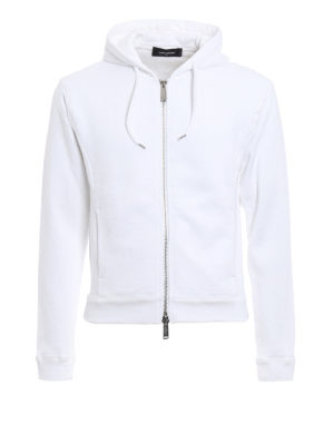Dsquared2: Sweatshirts & Sweaters - Zipped cotton hoodie