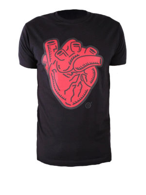 Dsquared2: t-shirts - Anatomical Heart black T-shirt