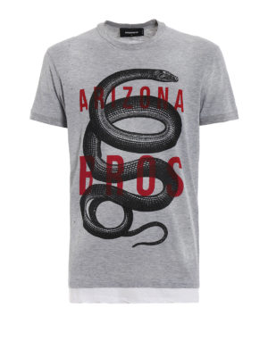 DSQUARED2: t-shirt - T-shirt Arizona Bros con fori