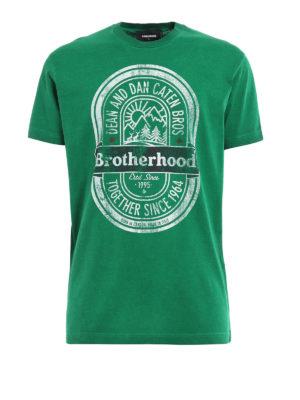 Dsquared2: t-shirts - Brotherhood print T-shirt