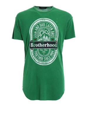 Dsquared2: t-shirts - Brotherhood pure wool T-shirt