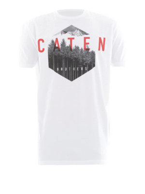 Dsquared2: t-shirts - Caten Forest print cotton T-shirt