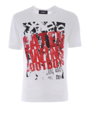 Dsquared2: t-shirts - Caten Twins Boot Boys printed Tee