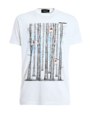 Dsquared2: t-shirts - Cip! Cip! print cotton T-shirt