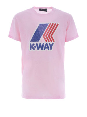 DSQUARED2: t-shirt - T-shirt K-Way rosa