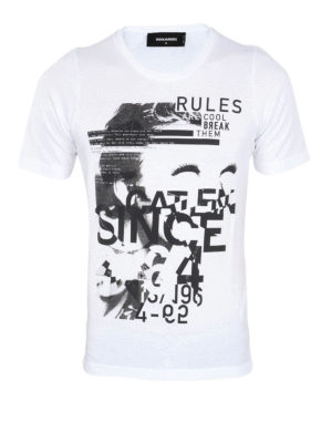 Dsquared2: t-shirts - Contrasting print T-shirt