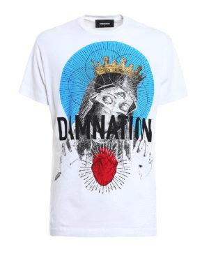 Dsquared2: t-shirts - Damnation print cotton T-shirt