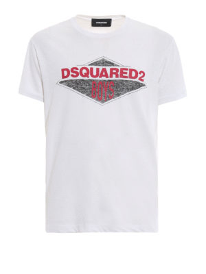 DSQUARED2: t-shirt - T-shirt bianca con stampa Dsquared2 Boys