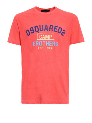 Dsquared2: t-shirts - Dsquared2 Camp Brothers orange Tee