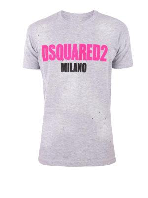 DSQUARED2: t-shirt - T-shirt Dsquared2 Milano con fori