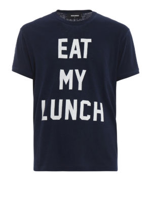 DSQUARED2: t-shirt - T-shirt con stampa Eat My Lunch