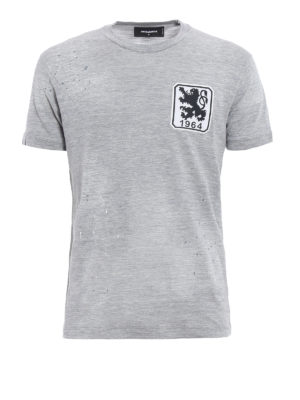 Dsquared2: t-shirts - Embroidered chest patch Tee