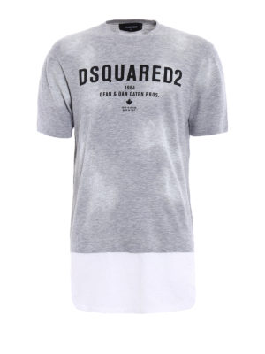 Dsquared2: t-shirts - Extended bottom long T-shirt