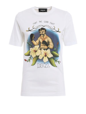 Dsquared2: t-shirts - Fight a Good Fight T-shirt