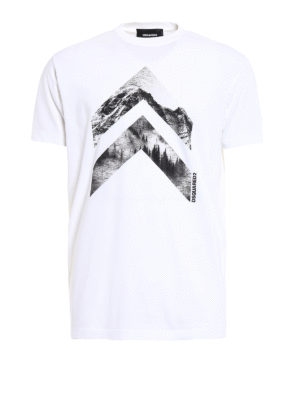 Dsquared2: t-shirts - Geometric Forest cotton T-shirt